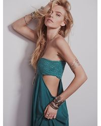 Free People - Green Jen S Pirate Booty For Womens Smocked Drape Dress - Lyst