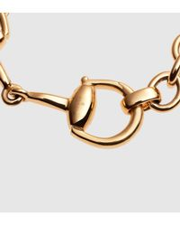 Gucci | Horsebit Bracelet In Yellow Gold | Lyst