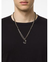 M. Cohen | Metallic Skull Charm Necklace for Men | Lyst