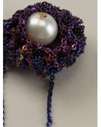 Arielle De Pinto - Purple Chained Pearl Earrings - Lyst