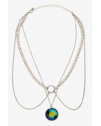 Nasty Gal - Metallic Harper Chain Collar Necklace - Lyst
