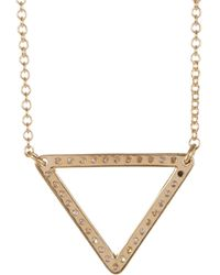 Ileana Makri - Metallic Diamond & Gold Triangle Pendant Necklace - Lyst