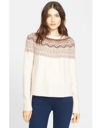 Joie - White 'jehannon' Wool Blend Sweater - Lyst