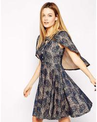 Traffic People - Blue Fairytales Cape Dress - Lyst