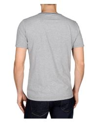 Napapijri - Gray Short Sleeve T-shirt for Men - Lyst