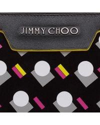 Jimmy Choo - Black Derek Pop Graphic Leather Document Holder for Men - Lyst