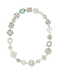 Judy Geib | Blue Turquoise, Gold & Silver casino Royale Necklace | Lyst