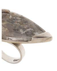 Beth Orduna - Metallic Teardrop Ring - Lyst