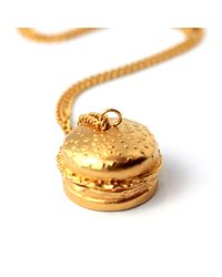 Goldie Rox | Metallic The Burger Locket | Lyst