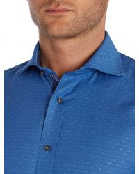 Ted Baker | Blue Dapto Polka Dot Slim Fit Formal Shirt for Men | Lyst