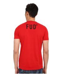 DSquared² - Red Elmer The Canadian Hunter T-shirt for Men - Lyst