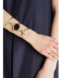 Isharya - Metallic Goddess 18Kt Gold Plated Cuff - Lyst