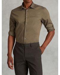 John Varvatos | Green Cotton Rolled Sleeve Shirt for Men | Lyst