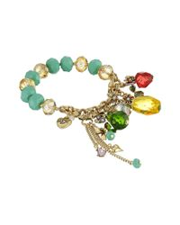 Betsey Johnson | Multicolor Tutti Frutti Pineapple Half Stretch Bracelet | Lyst