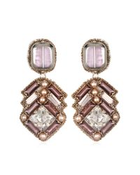 Suzanna Dai | Purple Vendome Small Drop Earrings, Pale Orchid | Lyst