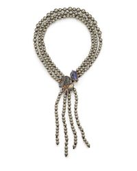 Alexis Bittar | Metallic Elements Phoenix Labradorite, Shell Pearl & Crystal Vine Reversible Necklace | Lyst