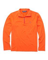 Ralph Lauren - Orange The Open Half-zip Pullover for Men - Lyst