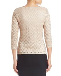 Marina | Metallic Chevron Lace Top | Lyst