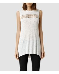 AllSaints | White Simmo Top | Lyst