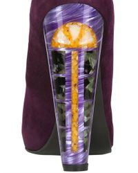 Sw1 - Purple Suede Cross My Heart Pumps - Lyst