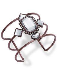 INC International Concepts - Brown Chocolate-tone Crystal Stone Cuff Bracelet - Lyst
