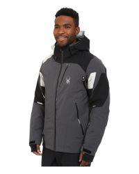 Spyder - Black Leader Jacket for Men - Lyst