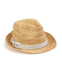 Tracy Watts | Natural Hitch Crochet Raffia Fedora | Lyst