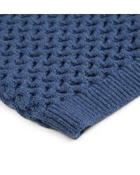 Sunspel | Blue Women's Textured Merino Jumper | Lyst