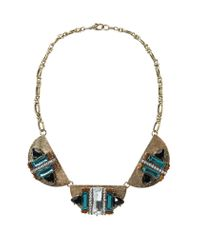 Mango | Metallic Beaded Chain Necklace | Lyst