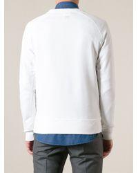 AMI - White Gorilla Print Sweatshirt for Men - Lyst