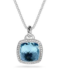 David Yurman | Albion Pendant With Blue Topaz And Diamonds | Lyst