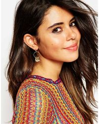 ASOS | Metallic Limited Edition Mini Circle Tassle Earrings | Lyst