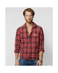 Denim & Supply Ralph Lauren   Red Plaid Oxford Sport Shirt for Men   Lyst
