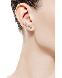 Susan Foster - Metallic Baguette Bar Earrings - Lyst