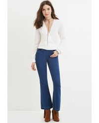 Forever 21 - Natural Self-tie Surplice Blouse - Lyst