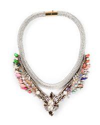Shourouk - Metallic 'Tabatha Meche' Necklace - Lyst