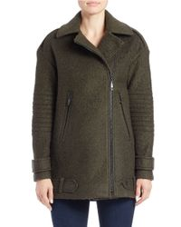 Vince Camuto - Green Asymmetrical Pea Coat - Lyst