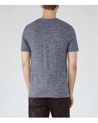 Reiss - Blue Mayers Flecked T-shirt for Men - Lyst