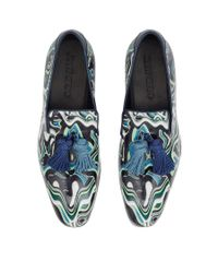 Jimmy Choo - Foxley London Blue Mix Psychedelic Patent Leather Tasselled Slippers for Men - Lyst