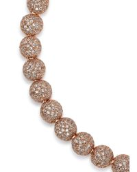 Eddie Borgo | Metallic Medium Pavé Crystal Dome Bracelet | Lyst