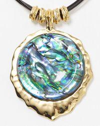 Robert Lee Morris - Blue Abalone Pendant Necklace 16 - Lyst