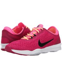 Nike | Pink Zoom Fit Low-Top Training Sneakers | Lyst