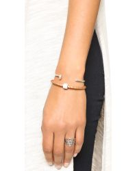 Liza Schwartz | Brown Single Bedazzle Leather Bracelet | Lyst