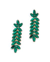 BaubleBar - Green Jeweled Vine Drops - Lyst