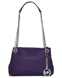 Michael Kors | Purple Michael Jet Set Chain Item Medium Messenger | Lyst