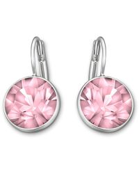Swarovski | Pink Bella Mini Pierced Earrings | Lyst
