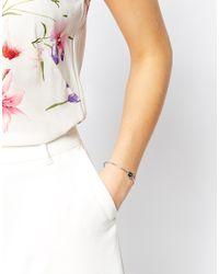 Ted Baker | Metallic Teya Enamel Button Cuff Bracelet | Lyst