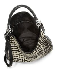 Marc By Marc Jacobs - Black Too Hot Blurred Calf Hair Hobo - Lyst