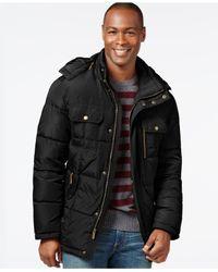 London Fog | Black Hooded Parka Jacket for Men | Lyst