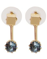 Joomi Lim | Metallic Gold-plated Shape Shifter Cube Swarovski Stud Earrings | Lyst